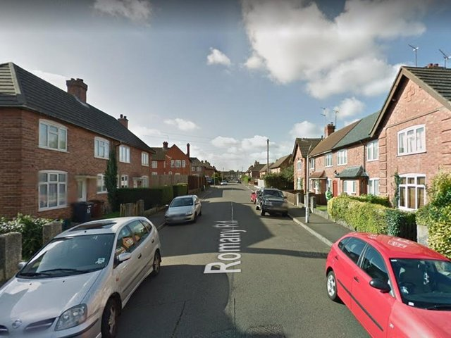 The assault took place on Romany Road in Northampton.