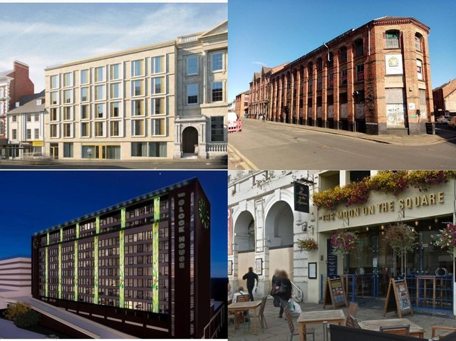 Debenhams, G T Hawkins factory, Belgrave House and Moon on the Square have all been the subjects of planning applications for flats.