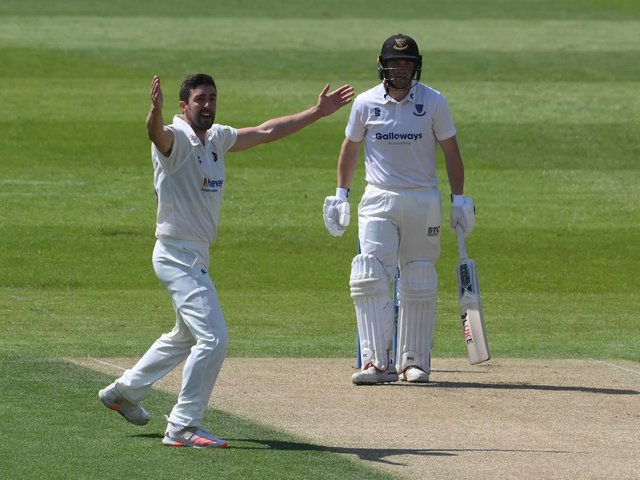 Ben Sanderson was in the wickets against Sussex again