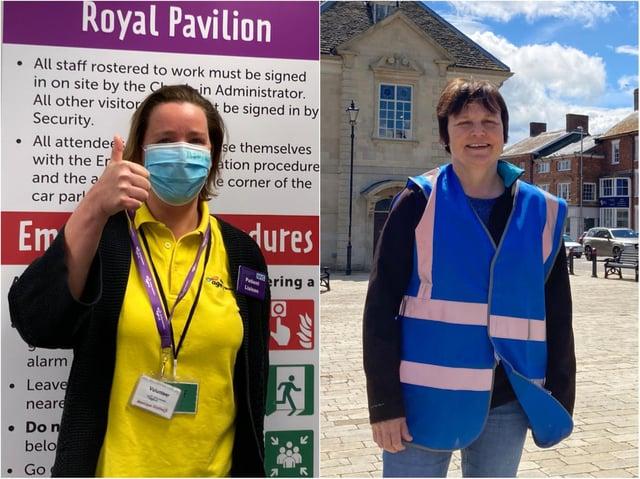 Age UK Northamptonshire volunteers, Monique Kochuijt (left) and Gail Perrins (right).