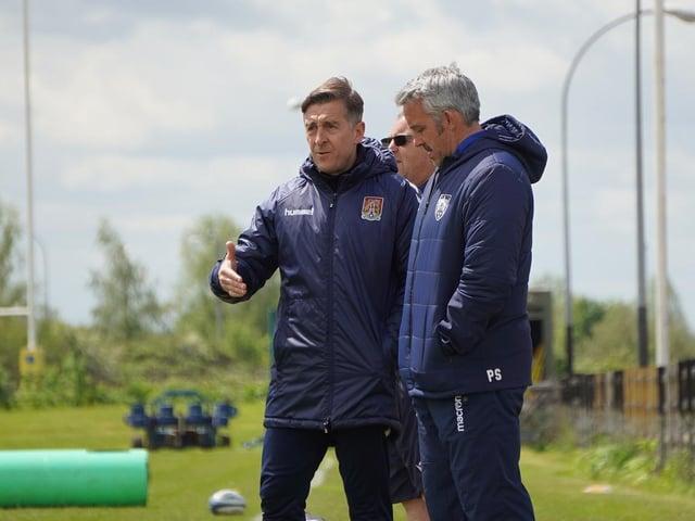 Jon Brady attends a Northampton Saints training session.