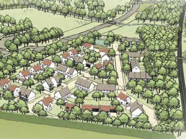 An artist's impression of what the development could look like.