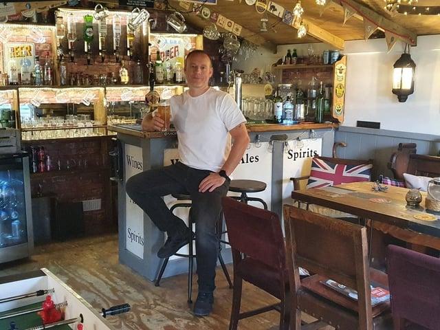 Last year's winner of Britain's Best Home Bar, Lee Morris.