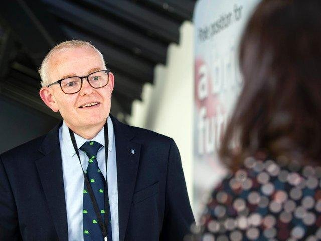 Councillor Ian McCord, speaking to the Chronicle & Echo at the election count on May 7