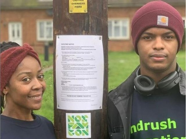 Norfamton's Shereen Ingram and writer Tre Ventour, who are leading the Windrush book project