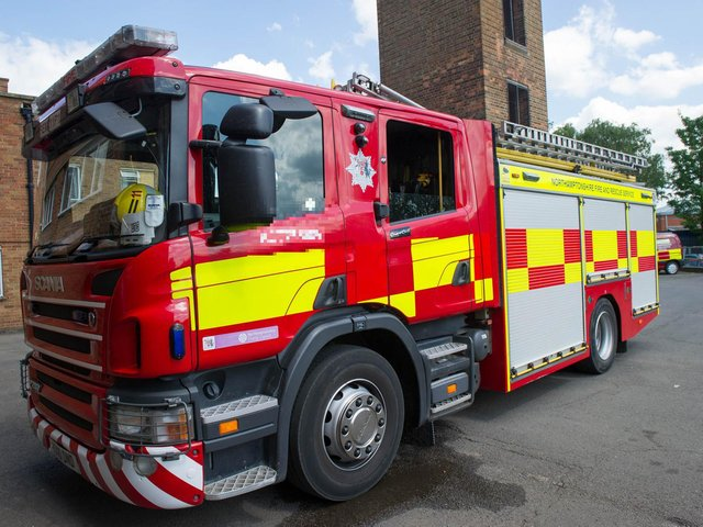 Firefighters rushed to a kitchen blaze in Northampton last night.