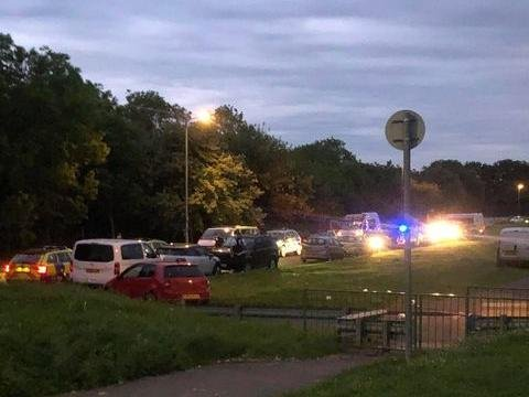The chase ended in a park area off Ring Way in Briar Hill.