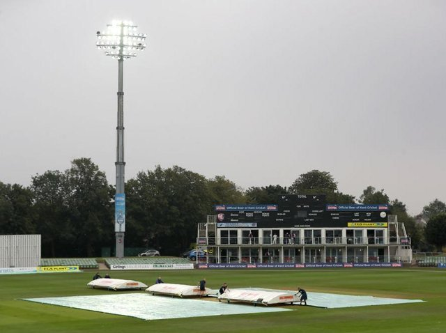 There was no play possible at Canterbury on Friday due to rain
