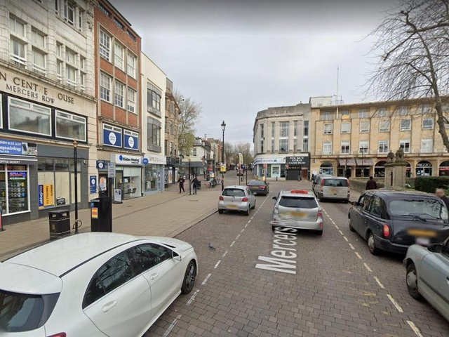 The woman was followed from Mercers Row in Northampton town centre.
