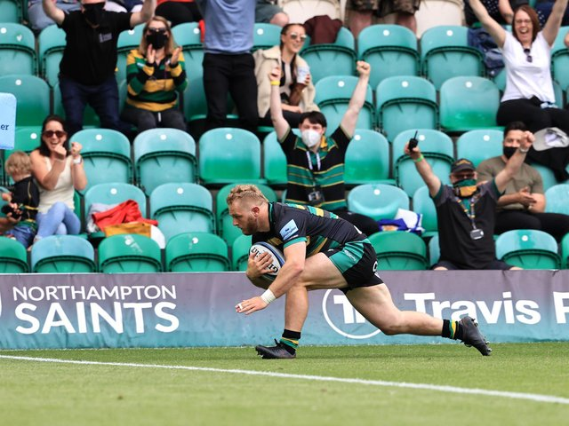 Mike Haywood scored for Saints during the second half
