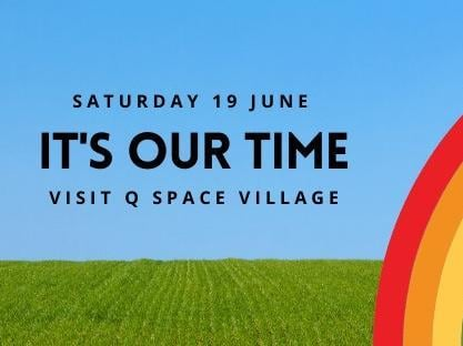 'It's Our Time' virtual event poster.