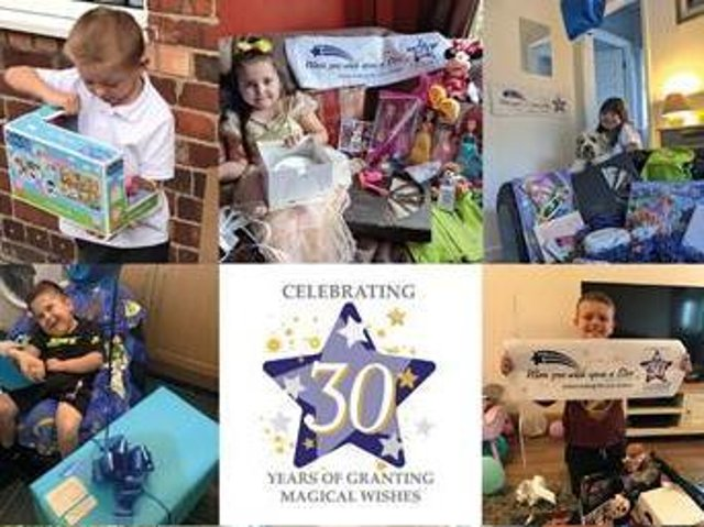 A selection of the poorly children When You Wish Upon a Star has helped since being founded in 1990