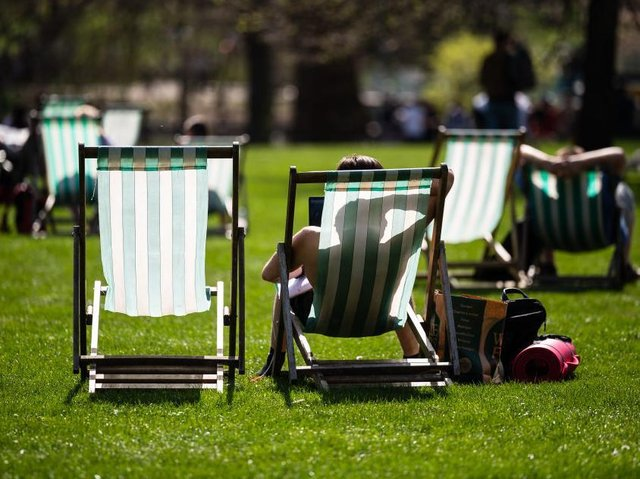 Northamptonshire's parks and open spaces have been packed with people lapping up the sun