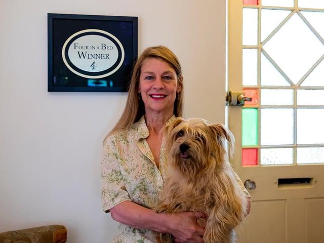 Amanda Lyon-Brown with her Norfolk Terrier, Trudie