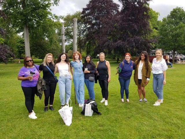 The last Women's Wellness Walk at Abington Park in Northampton.
