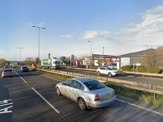 Officers were deployed at 10.50am on Saturday to a location between junctions five and four on the westbound carriageway on the A14 (library picture)