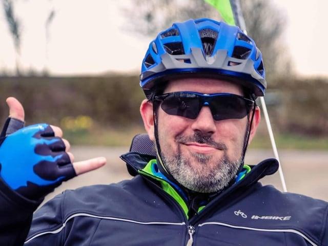 Nick Wilson will cycle 385 miles next week.