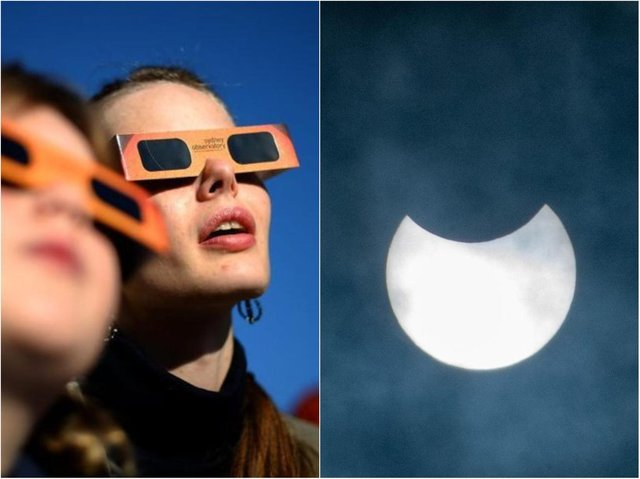 A partial eclipse was seen over the UK today.