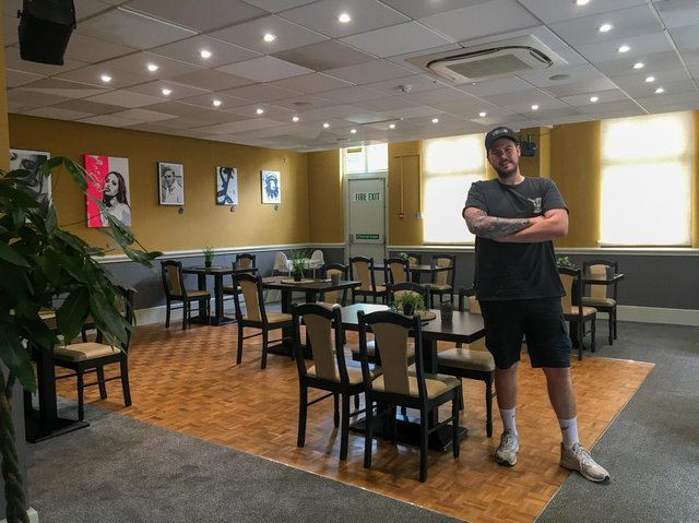 Chef and founder of Pinch My Bun, Dale Whitlock, in his newly refurbished restaurant.