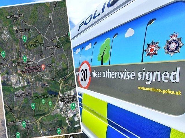 Mobile cameras enforce speed limits at locations throughout Northampton