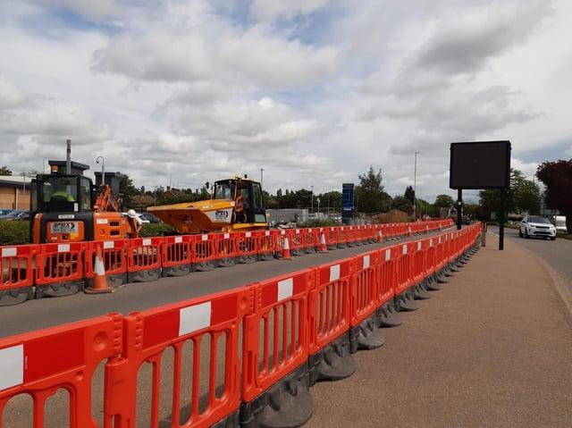 15-week roadworks at Weedon Road Retail Park started on June 1