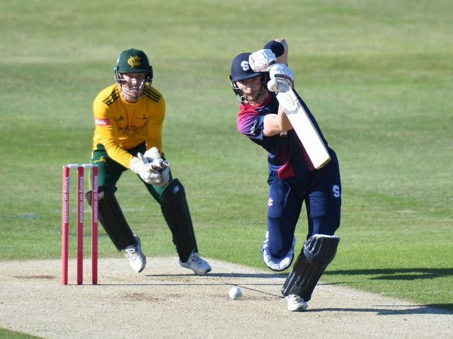 Rob Keogh on his way to 45 from 31 balls against Notts