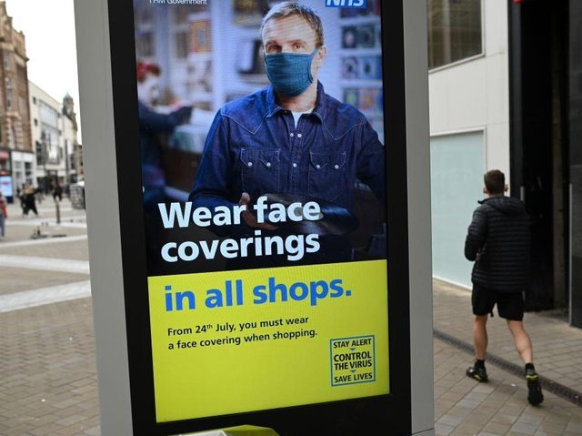 Face coverings have been required in all shops since last summer