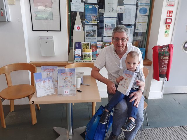 Roger with his grandson Freddie.