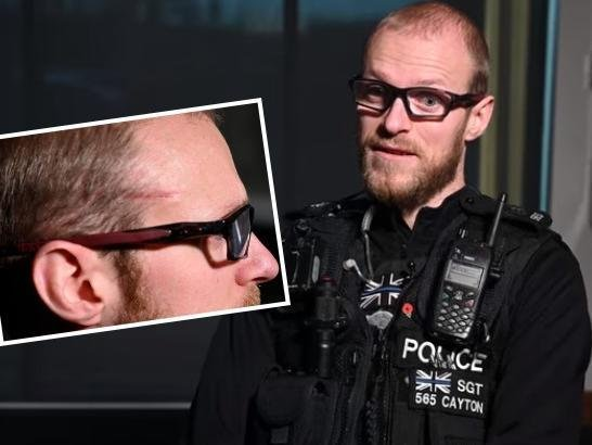 Sergeant Dave Cayton was shot three times tackling an armed man