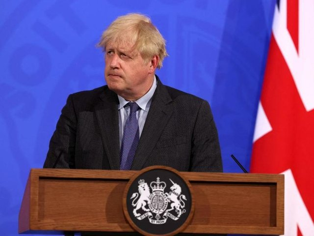Boris Johnson delivered his disappointing news in a Downing Street news conference last night