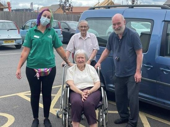 Timken Grange residents and staff on a long-awaited day trip