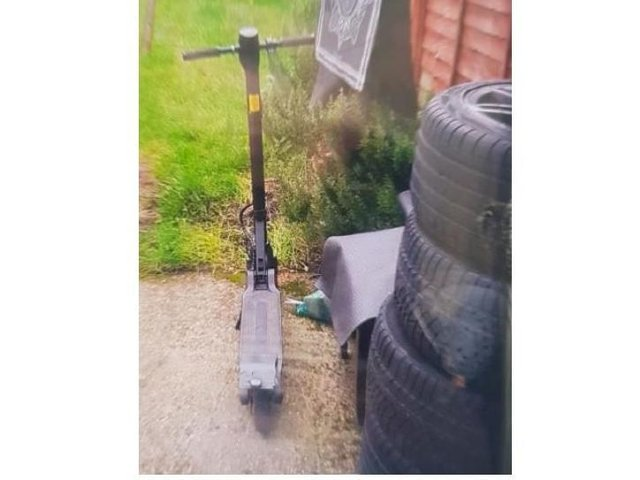 The scooter that has been stolen