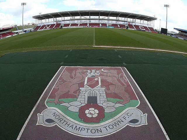 Work on Sixfields' East Stand was halted in 2014 amid contractors' claims they had not been paid
