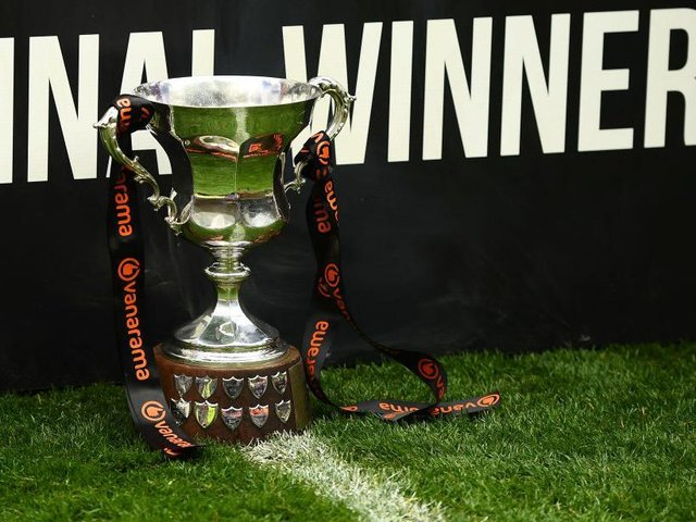 The play-off final trophy.