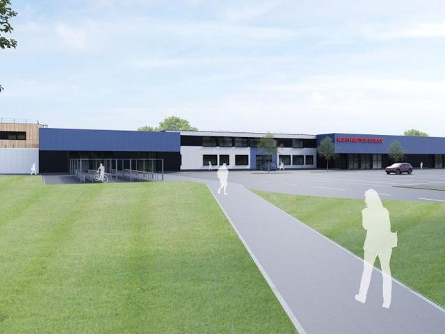 This is an artist's impression of what Northampton School could look like
