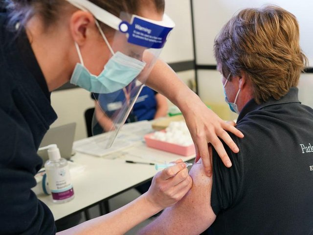 Nearly 500,000 first doses of Covid-19 vaccine have been delivered in Northamptonshire