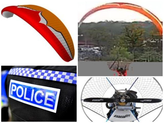 Police want to identify the pilot of this paraglider landing in the Towcester area