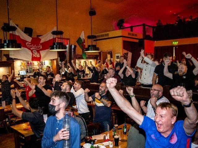 England fans at The Picturedrome in Kettering Road Photo: Kirsty Edmonds