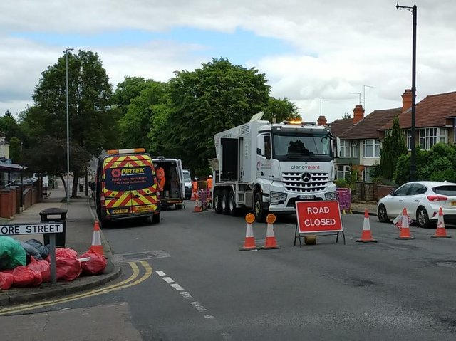 Part of Kettering Road remains closed on Wednesday morning