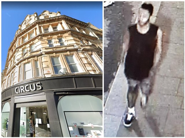 Police want to speak to this man after brick was thrown at windows in Northampton town centre