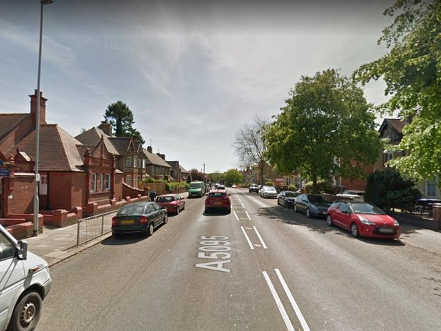 A man exposed himself in the back of a car in Kingsthorpe Grove.