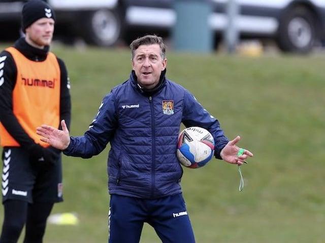 Jon Brady on the training pitch.