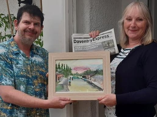 Stephen presents the painting to Helen.