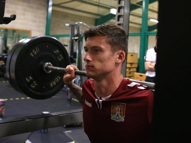 Liam Roberts was in for pre-season testing on Thursday. Picture: Pete Norton.