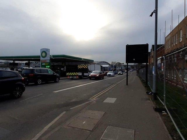 The Weedon Road bus lane camera in the top right of the picture.