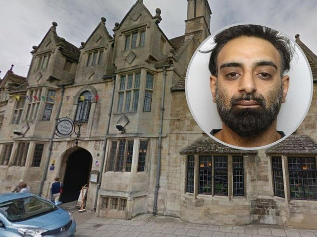 Akhtar sneaked into the woman's room at the four-star Talbot Hotel