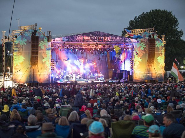 The main stage at Cropredy Convention. Photo by David Jackson.