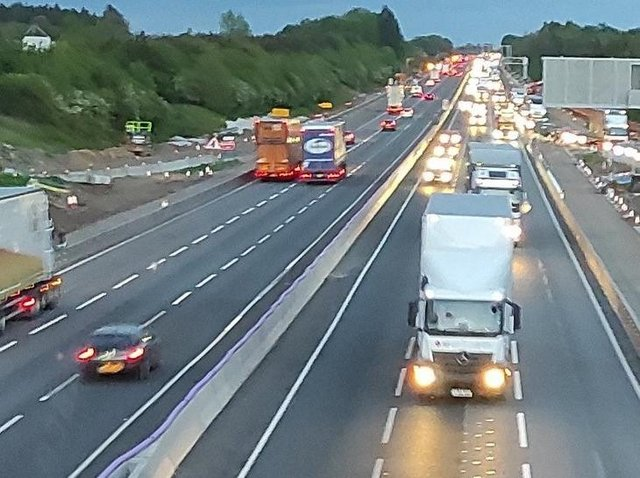 Stretches of the M1 will be shut on 50 nights between now and early-October