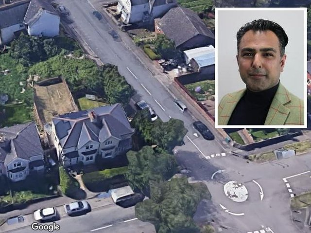Cllr Choudary was fined over rubbish dumped on land owned by him to the rear of a house in Lindsay Avenue