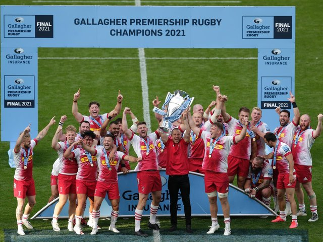 The Harlequins won the Gallagher Premiership last weekend